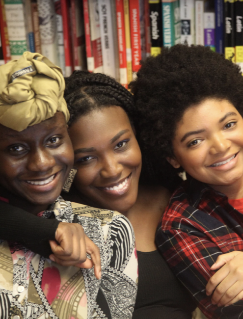 Three Manhattan Students Smiling