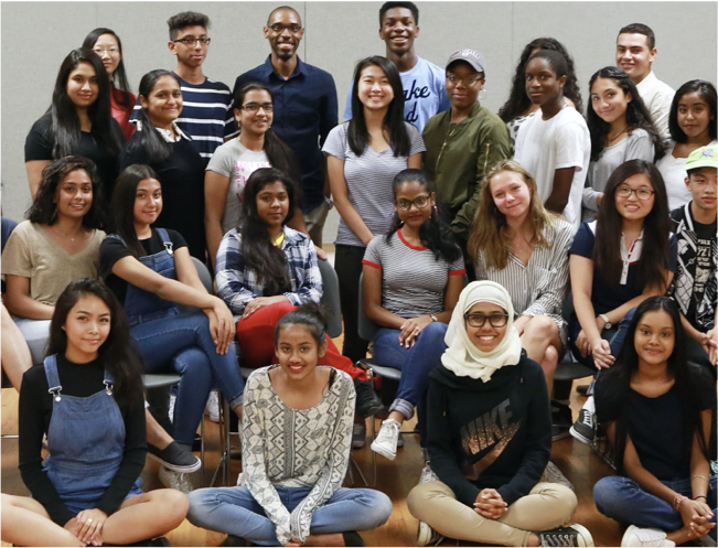 Group photo of smiling students
