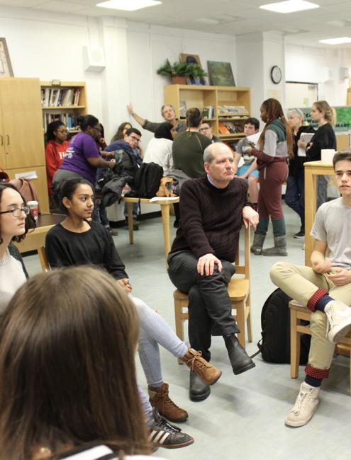 Students and Teacher in Manhattan Classroom