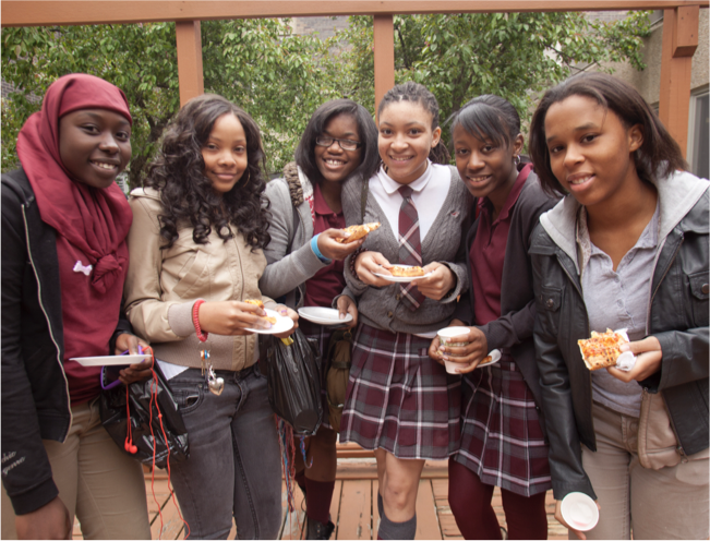 Group of students outside
