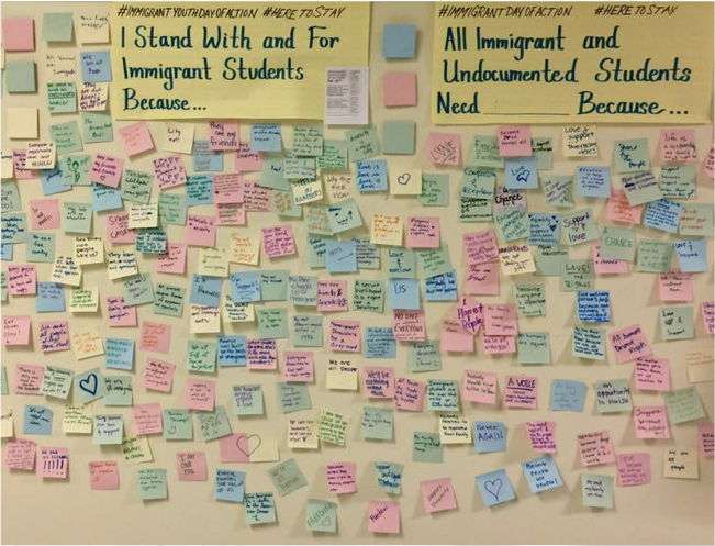 Sticky notes supports immigrant students