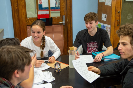 BHSEC Manhattan students participate in a group assignment.