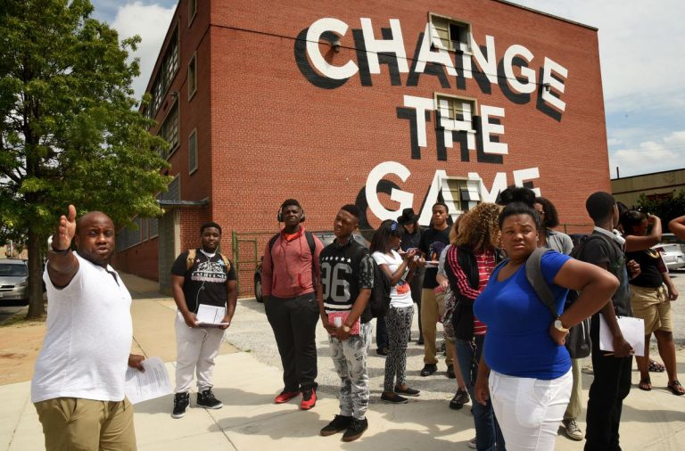 Photo of students from the Baltimore Sun